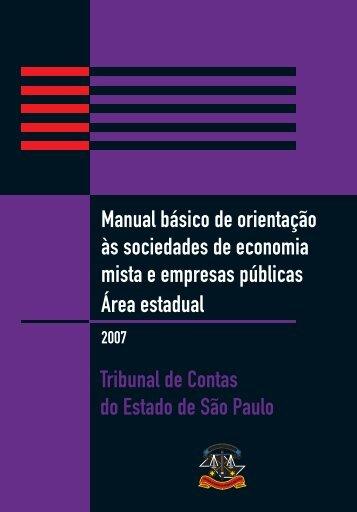 Área Estadual - Tribunal de Contas do Estado de São Paulo