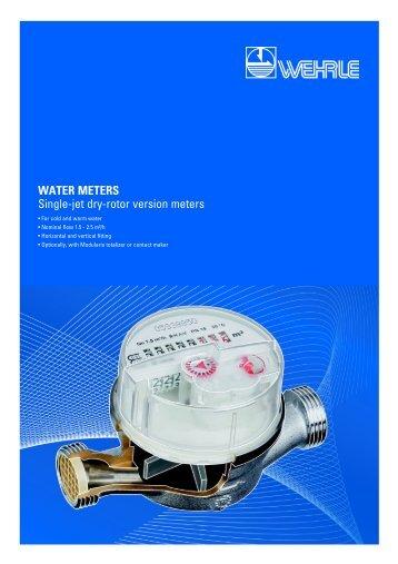 WATER METERS Single-jet dry-rotor version meters - Wehrle