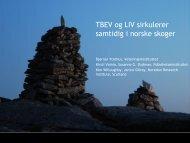 TBEV & LIV - Arendal kommune