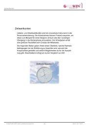 Zeitwertkonten - Gowin