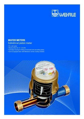 WATER METERS Cylindrical piston meter - Wehrle