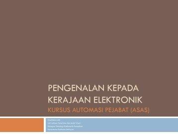 Kerajaan Elektronik - Kementerian Kesihatan Malaysia