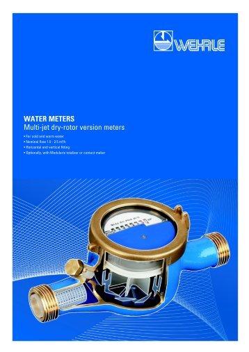 WATER METERS Multi-jet dry-rotor version meters - Wehrle