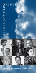 Programm Saison 2011/12 (PDF) - Berner Kammerorchester