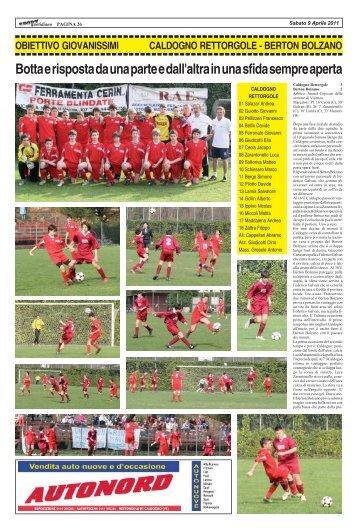 3 aprile 2011 - CALDOGNO - BERTON BOLZANO - SPORTquotidiano