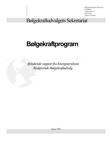 Bølgekraftprogrammets Afslutningsrapport. - Waveenergy.dk