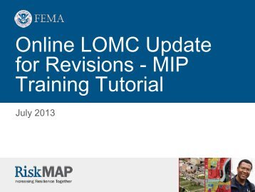 Online LOMC Revisions Tutorial - Mapping Information Platform