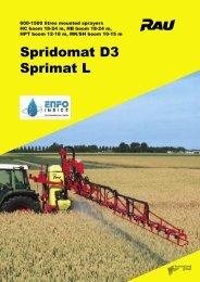 Spridomat D3 Sprimat L - AGROVOK-SERVIS, sro