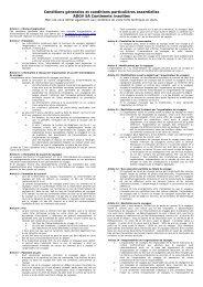 Conditions générales et conditions particulières essentielles ADGV ...