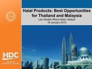 Halal Products: Best Opportunities for Thailand and Malaysia Lee ...