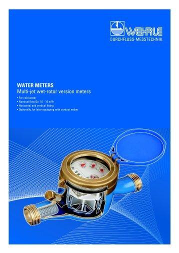 WATER METERS Multi-jet wet-rotor version meters - Wehrle