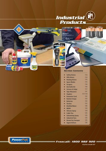 industrial products section - PowerPak Packaging Supplies