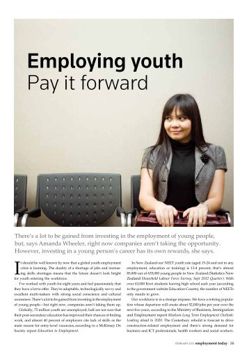 Employment Today, Feb 2013 issue - Workchoice Trust