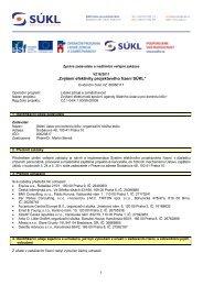 """""""Zvýšení efektivity projektového řízení SÚKL"""" - E-ZAK SUKL - Státní ..."""