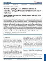 Physiologically based pharmacokinetic modeling of ...