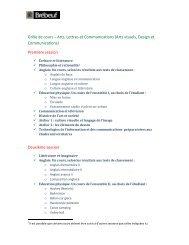Grille de cours – Arts, Lettres et Communications (Arts visuels ...