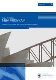 Full time MBA Program