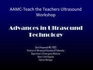 AAMC-Teach the Teachers Ultrasound Workshop Advances in ...