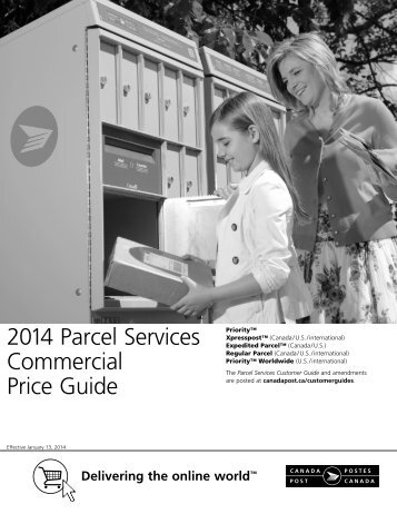 2013 Parcel Services Commercial Price Guide - Canada Post