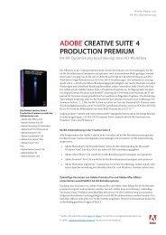 ADOBE® CrEAtivE SuitE® 4 PrODuCtiOn PrEmium