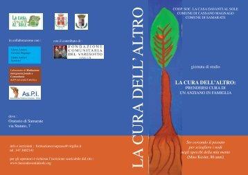 LA CURA DELL'ALTRO - Distrettodisaronno.it