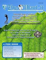 A PEEK INSIDE . . . Inland Empire Chapter Annual Golf Tournament ...