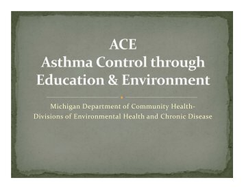 Divisions of Environmental Health and Chronic Disease - Asthma ...