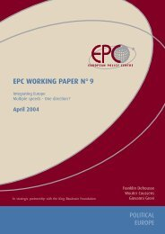 EPC Working Paper n° 9, Integrating Europe. Multiple ... - Egmont