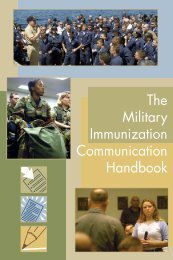 The Military Immunization Communication Handbook - MILVAX