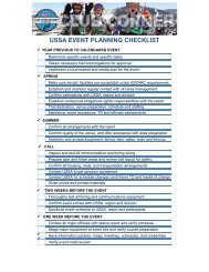 USSA EVENT PLANNING CHECKLIST