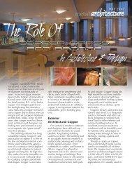 MAY 2007 Exterior Architectural Copper - Copper Development ...
