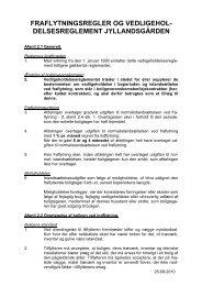 Vedligeholdelsesreglement for afd. 35 Jyllandsgården