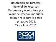 Resolución del Director General de Recursos Pesqueros y ...