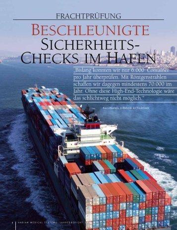BESCHLEUNIGTE SICHERHEITS- CHECKS IM HAFEN - Varian