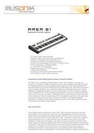 musonik - we build music - AREA 61 Keyboard