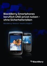 BlackBerry Smartphones beruflich UND privat nutzen – ohne ...