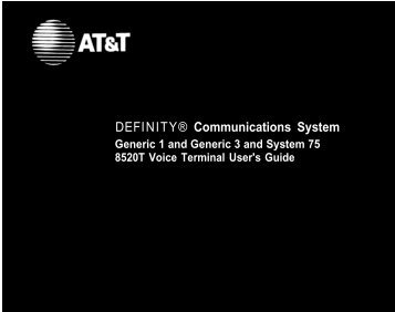 DEFINITY® Communications System - TextFiles.com