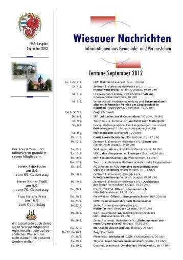 September 2012 - Markt Wiesau