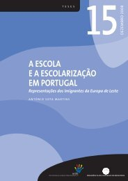 A ESCOLA E A ESCOLARIZAÇÃO EM PORTUGAL - Acidi