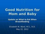 Maternal Diiet for Breastfeeding Slides - Mead Johnson Nutrition