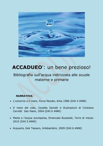 Accadueo: un bene prezioso. Bibliografia sull'acqua - Biblioteca ...