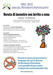 Serata di incontro con invito a cena - Comune di Reggio Emilia
