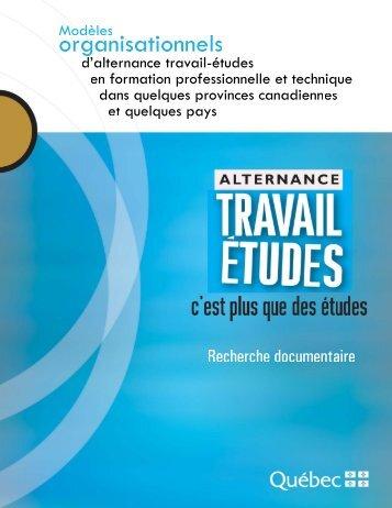 Modèles organisationnels d'alternance travail-études ... - Inforoute FPT