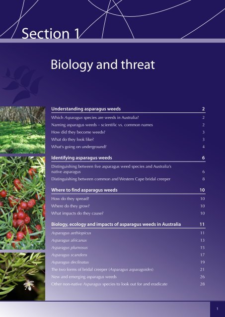 Section 1. Biology and Threat - Weeds Australia