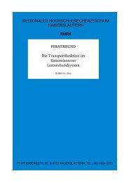 PS&VERBUND Die Transportfunktion im Kaiserslauterer ...