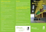 Household Waste Recycling Centres opening times - Wigan Council