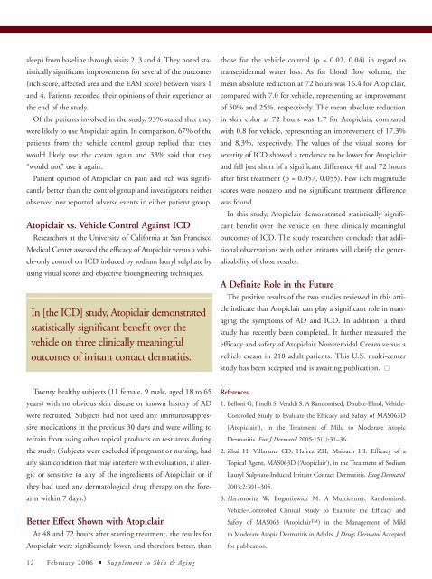 Atopic Dermatitis: Emerging Therapies - The Dermatologist