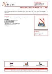 Värmekabel TXLP/2R 10 W/m och 17 W/m - Nexans