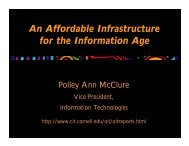 An Affordable Infrastructure for the Information Age - Services and ...
