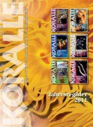 Jahresregister 2011 - Natur und Tier - Verlag GmbH